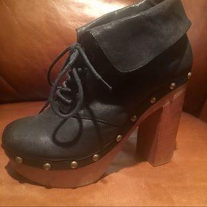 Jeffrey Campbell Women's Blk Leather Booties